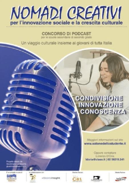 """""""Nomadi Creativi"""", concorso per podcast dedicato alle scuolesuperiori"""