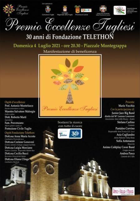 Premio Eccellenze Tugliesi con Telethon