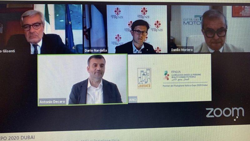 L'Anci all'Expo 2020 Dubai: i Comuni perfetti ambasciatori del Made in Italy per la ripartenza