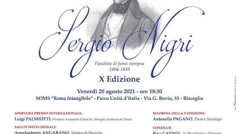 """X Edizione Premio Internazionale Cultura , Arte e Spettacolo """" Sergio Nigri"""""""