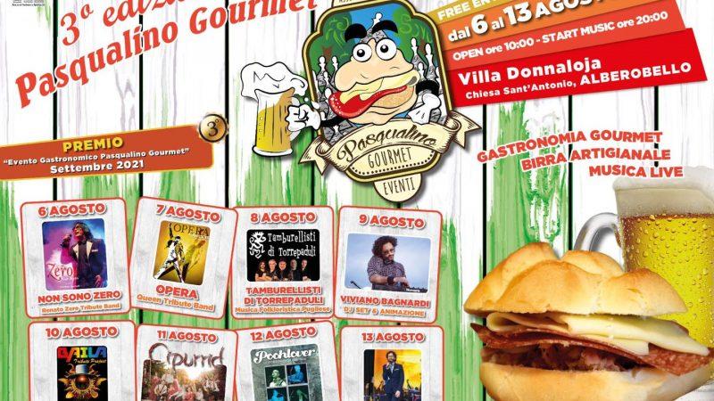 «Pasqualino Gourmet», terza edizione al via il 6 agosto